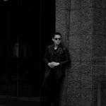 cuervo bopoha (クエルボ ヴァローナ) Satisfaction Leather Collection (サティスファクション レザー コレクション) Vincent (ヴィンセント) BUFFALO LEATHER (バッファロー レザー) レザー Pコート BLACK (ブラック) MADE IN JAPAN (日本製) 2020 秋冬のイメージ