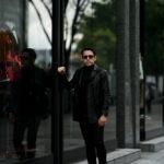 cuervo bopoha (クエルボ ヴァローナ) Satisfaction Leather Collection (サティスファクション レザー コレクション) Vincent (ヴィンセント) BUFFALO LEATHER (バッファロー レザー) レザー Pコート BLACK (ブラック) MADE IN JAPAN (日本製) 2020 秋冬 【ご予約開始】のイメージ
