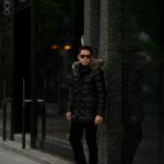 EMMETI(エンメティ) THIAGO (ティアゴ) Lambskin Nappa Silk Leather (ラムナッパシルクレザー) レザーダウンコート NERO (ブラック) Made in italy (イタリア製) 2020 秋冬 【ご予約受付中】のイメージ