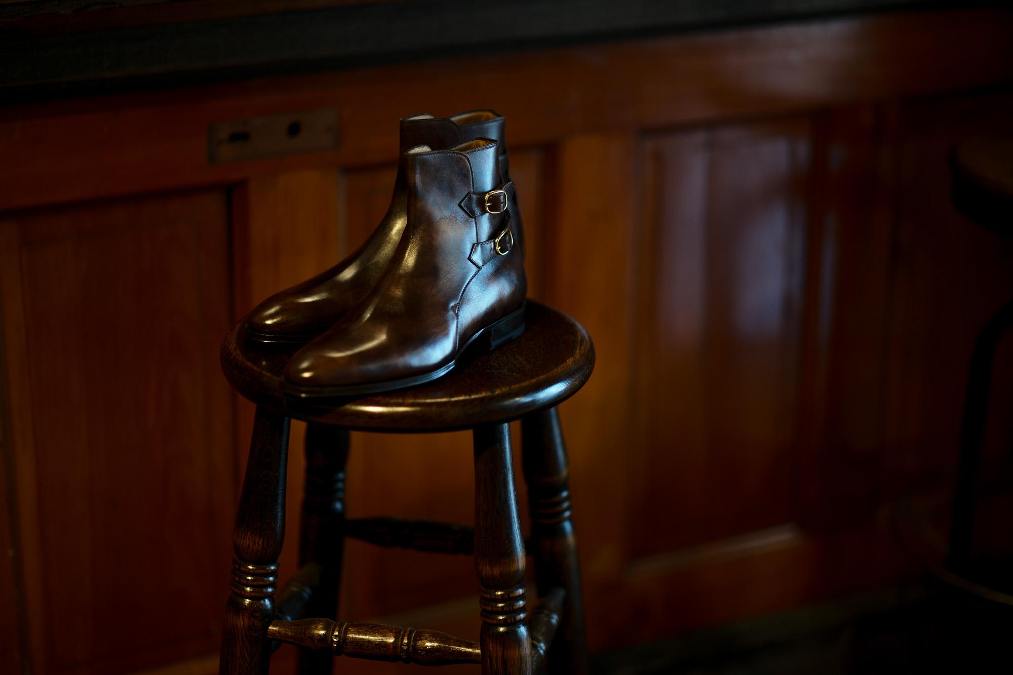 ENZO BONAFE(エンツォボナフェ) ART.3995 Double strap boot BONAUDO MUSEUM CALF ボナウド社ミュージアムカーフ ダブルストラップブーツ DARK BROWN (ダークブラウン) made in italy (イタリア製) 2020 秋冬新作 【入荷しました】【フリー分発売開始】愛知 名古屋 altoediritto アルトエデリット ブーツ
