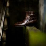 ENZO BONAFE(エンツォボナフェ) ART.3995 Double strap boot BONAUDO MUSEUM CALF ボナウド社ミュージアムカーフ ダブルストラップブーツ DARK BROWN (ダークブラウン) made in italy (イタリア製) 2020 秋冬新作のイメージ