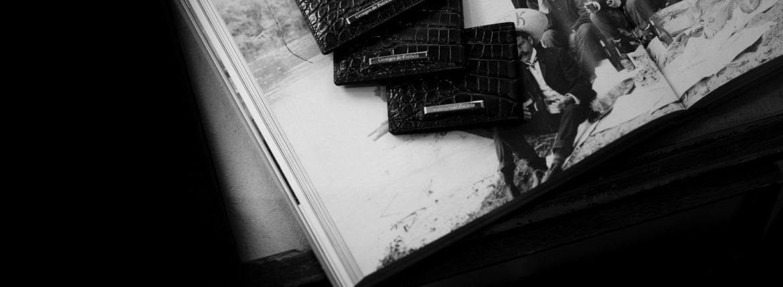 Georges de Patricia (ジョルジュ ド パトリシア) Cloud Crocodile (クラウド クロコダイル) 18K GOLD (18K ゴールド) Niloticus Crocodile ニロティカス クロコダイル エキゾチックレザー カードケース NOIR (ブラック) 2020 【Special Model】のイメージ
