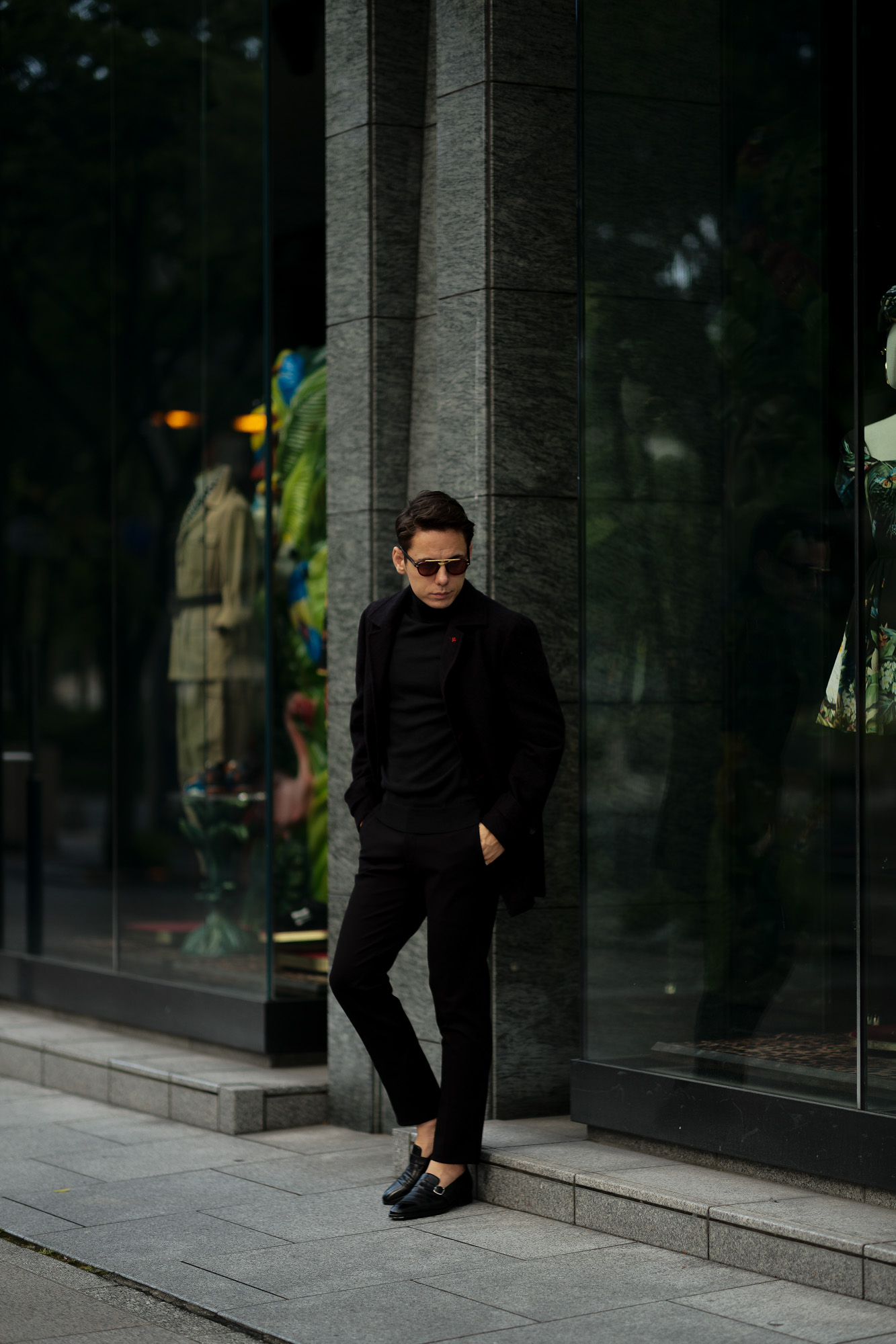 ISAIA (イザイア) CAPPOTTO (カッポット) グレンチェック フラノウール カーコート BLACK (ブラック・990) Made in italy (イタリア製) 2020 秋冬 【ご予約受付中】 愛知 名古屋 altoediritto アルトエデリット