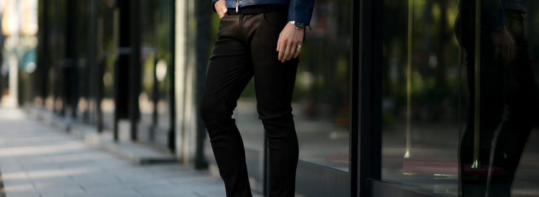 ISAMU KATAYAMA BACKLASH (イサムカタヤマ バックラッシュ) French Deerskin Stretch Leather Pants (フレンチ ディアスキン ストレッチ パンツ) ディアスキン ストレッチ レザー スキニーパンツ BLACK (ブラック) MADE IN JAPAN (日本製) 2020 秋冬 【Special Model】【Alto e Diritto別注】【ご予約受付中】のイメージ