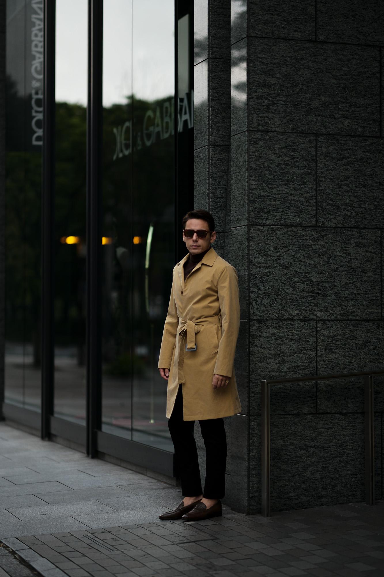 LUCA GRASSIA (ルカ グラシア) Belted coat (ベルテッド コート) カシミアフラノ カシミア バルカラー ベルテッド コート BLACK (ブラック)  Made in italy (イタリア製) 2020 秋冬 【ご予約受付中】愛知 名古屋 altoediritto アルトエデリット lucagrassia カシミヤコート カシミアコート