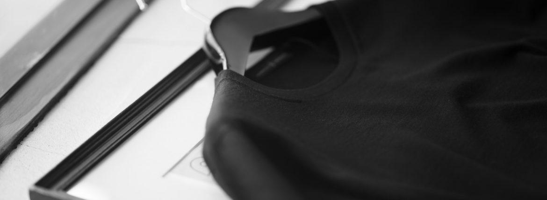 MANRICO CASHMERE (マンリコ カシミア) Silk Cashmere Wool Crew Neck Sweater (シルクカシミアウール クルーネック セーター) ハイゲージ シルクカシミアウール ニット セーター BLACK (ブラック) made in italy (イタリア製) 2020 秋冬 【ご予約受付中】のイメージ