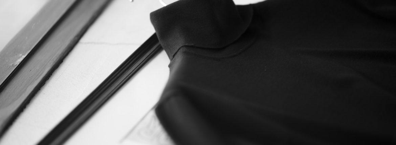 MANRICO CASHMERE (マンリコ カシミア) Silk Cashmere Wool Turtle Neck Sweater (シルクカシミアウール タートルネック セーター) ハイゲージ シルクカシミアウール ニット セーター BLACK (ブラック) made in italy (イタリア製) 2020 秋冬 【ご予約受付中】のイメージ