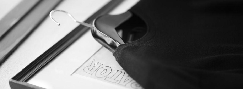 MANRICO CASHMERE (マンリコ カシミア) Super Cashmere Crew Neck Sweater (スーパーカシミア クルーネック セーター) ハイゲージ アラシャンカシミヤニット セーター BLACK (ブラック) made in italy (イタリア製) 2020 秋冬 【ご予約受付中】のイメージ