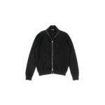 MANRICO CASHMERE (マンリコ カシミア) Super Cashmere Zip Up Cardigan (スーパーカシミア ジップアップ カーディガン) ハイゲージ アラシャンカシミヤニット カーディガン BLACK (ブラック) made in italy (イタリア製) 2020 秋冬 【ご予約受付中】のイメージ