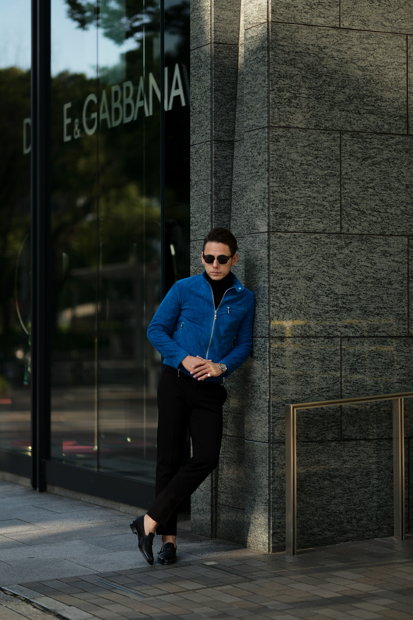 SILENCE(サイレンス) Single Leather Jacket (シングルレザー ジャケット) Goat Suede Leather (ゴートスエード レザー) シングル ライダース ジャケット COBALTO (ブルー) Made in italy (イタリア製) 2020 秋冬 【Alto e Diritto限定モデル】【ご予約開始】愛知 名古屋 altoediritto アルトエデリット スエードレザー
