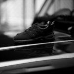 WH×菅原靴店×Alto e Diritto (ダブルエイチ×スガワラクツテン×アルトエデリット) WH-0111S Faster Last(ファスターラスト) Suede Leather スエードレザー スニーカー ALL BLACK (オールブラック) MADE IN JAPAN (日本製) 2020秋冬【Special Model】【2店舗限定スエードモデル】【ご予約開始】のイメージ