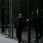 ISAMU KATAYAMA BACKLASH (イサムカタヤマ バックラッシュ) ITALY SHOULDER GARMENT DYED DOUBLE RIDERS No.AL1498-10 (イタリー ショルダー ガーメントダイ ダブルライダース) レザー ダブル ライダース ジャケット NIGHT EMERALD (ナイトエメラルド) MADE IN JAPAN (日本製) 2020 秋冬 【Special Color】【Alto e Diritto別注】【ご予約受付中】のイメージ