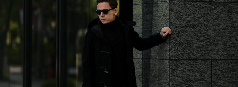 cuervo bopoha (クエルボ ヴァローナ) Sartoria Collection (サルトリア コレクション) David (デヴィッド) Cashmere カシミア ダッフルコート BLACK (ブラック) MADE IN JAPAN (日本製) 2020 秋冬 【Special Model】のイメージ