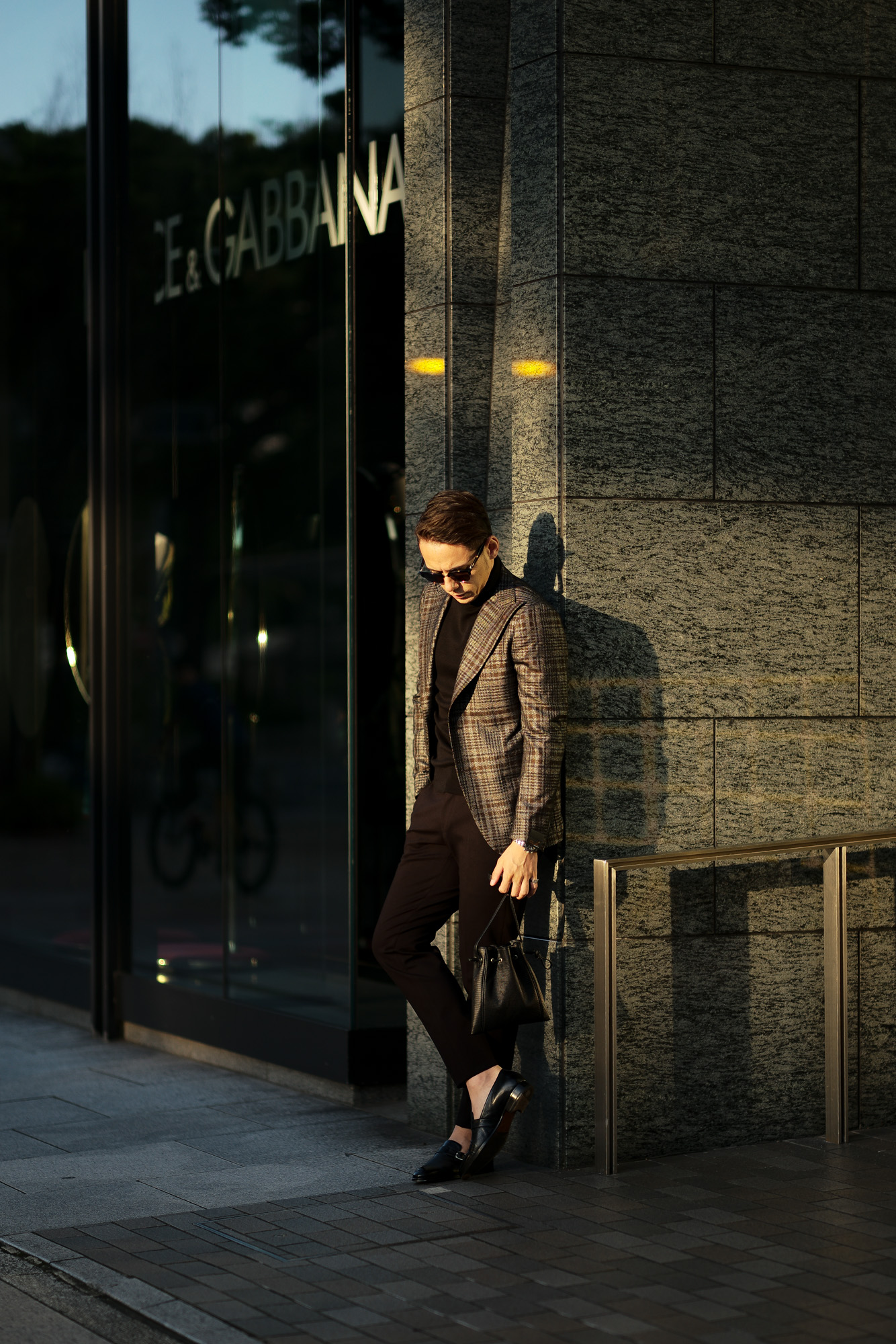 cuervo bopoha (クエルボ ヴァローナ) FLOYD (フロイド) Lizard Leather (リザードレザー) レザードローストリングバック 巾着 BLACK (ブラック) Made in Japan (日本製) 2020秋冬【Special Model】 愛知 名古屋 altoediritto アルトエデリット レザーバック スモールバック エキゾチックレザー