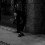 cuervo bopoha (クエルボ ヴァローナ) Satisfaction Leather Collection (サティスファクション レザー コレクション) FLOYD (フロイド) Ostrich Leather (オーストリッチレザー) レザードローストリングバック 巾着 BLACK (ブラック) Made in Japan (日本製) 2020秋冬【Special Model】のイメージ