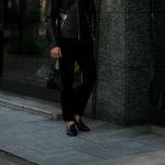 cuervo bopoha (クエルボ ヴァローナ) Satisfaction Leather Collection (サティスファクション レザー コレクション) FLOYD (フロイド) Ostrich Leather (オーストリッチレザー) レザードローストリングバック 巾着 BLACK (ブラック) Made in Japan (日本製) 2020秋冬【Special Model】【新作入荷】【フリー分発売開始】のイメージ
