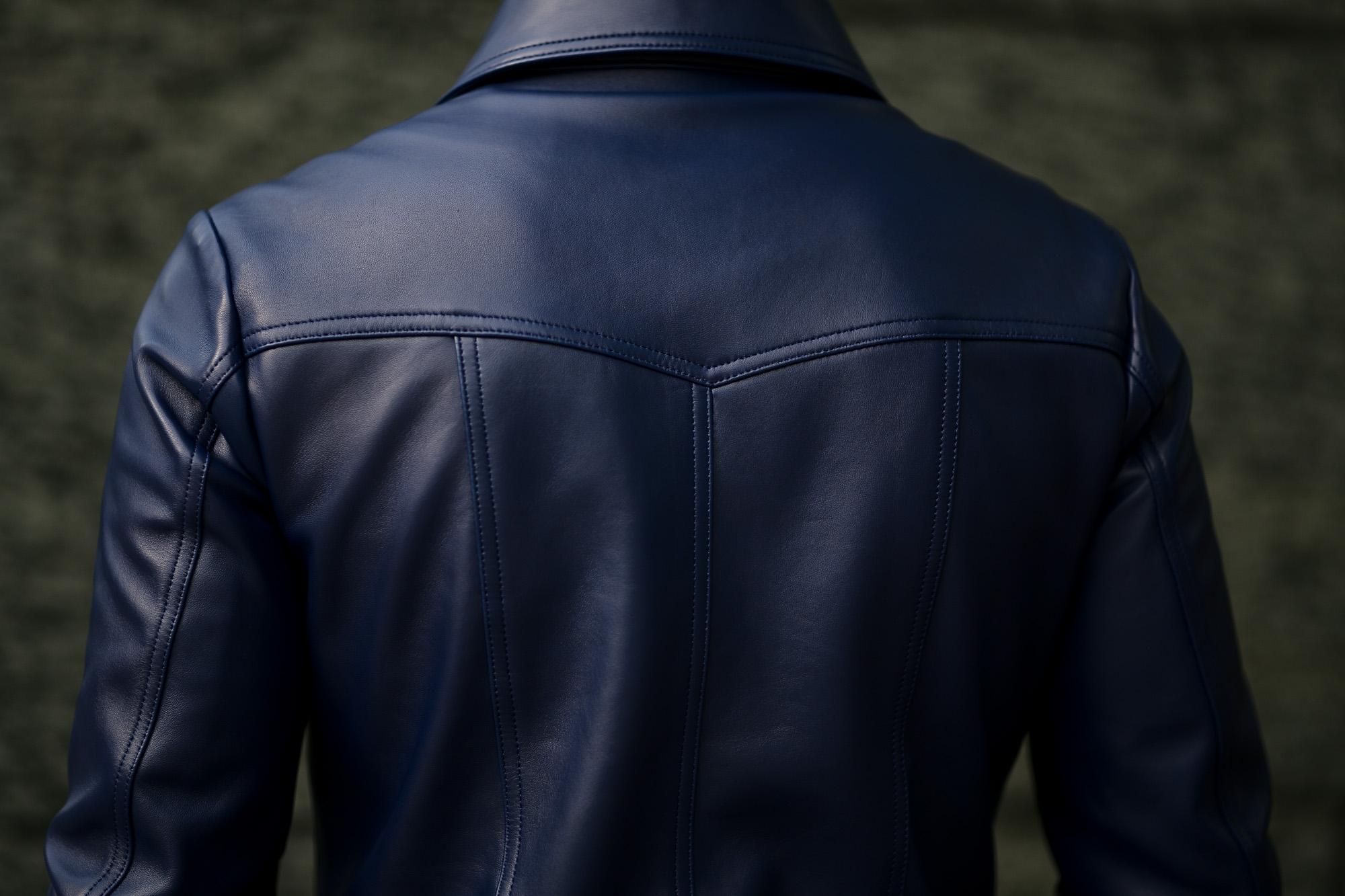 cuervo bopoha(クエルボ ヴァローナ) Satisfaction Leather Collection (サティスファクション レザー コレクション) JACK (ジャック) LAMB LEATHER (ラムレザー) シングル レザー ジャケット VIOLET BLUE (ヴァイオレットブルー) MADE IN JAPAN (日本製) 2020 秋冬 愛知 名古屋 altoediritto アルトエデリット