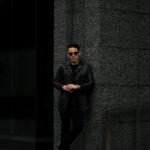 cuervo bopoha (クエルボ ヴァローナ) Satisfaction Leather Collection (サティスファクション レザー コレクション) Vincent (ヴィンセント) BUFFALO LEATHER (バッファロー レザー) レザー Pコート BLACK (ブラック) MADE IN JAPAN (日本製) 2020 秋冬 【ご予約受付中】のイメージ