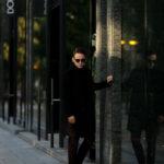 De Petrillo(デ ペトリロ) SPINELLI (スピネッリ) カシミアフラノ シングル チェスターコート BLACK (ブラック・305) Made in italy (イタリア製) 2020 秋冬 【ご予約受付中】のイメージ