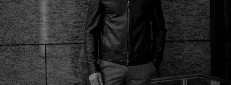 EMMETI(エンメティ) JURI(ユリ) Lambskin Nappa Silk (ラムナッパシルクレザー) シングルライダース レザージャケット BIANCO (ホワイト) made in italy (イタリア製) 2021 春夏 【ご予約開始】【Special Color】のイメージ