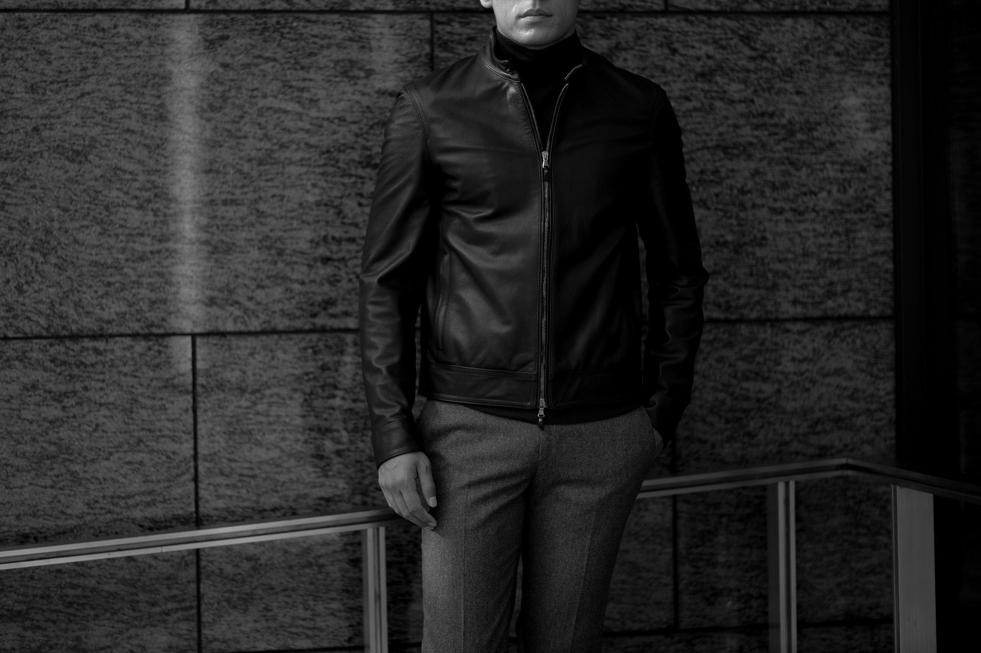 EMMETI(エンメティ) JURI(ユリ) Lambskin Nappa Silk (ラムナッパシルクレザー) シングルライダース レザージャケット BIANCO (ホワイト) made in italy (イタリア製) 2021 春夏 【ご予約開始】愛知 名古屋 白レザー