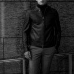 EMMETI(エンメティ) JURI(ユリ) Lambskin Nappa Silk (ラムナッパシルクレザー) シングルライダース レザージャケット BISTORO GREEN (グリーン) made in italy (イタリア製) 2021 春夏 【ご予約開始】【Special Color】のイメージ