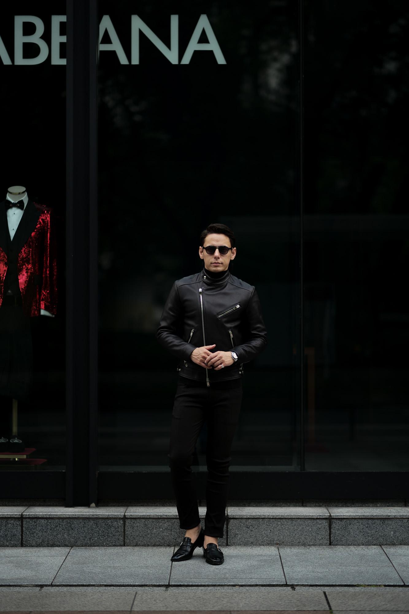 """FIXER(フィクサー) F1(エフワン) DOUBLE RIDERS Cow Leather ダブルライダース ジャケット BLACK(ブラック) 【ご予約開始】【2020.7.18(Sat)~2020.8.02(Sun)】 愛知 名古屋 altoediritto アルトエデリット ライダースコーデ レザージャケット レザーコーデ"""""""