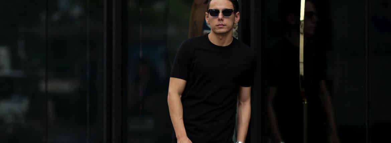 Girelli Bruni (ジレリブルーニ) Crew Neck T-shirt (クルーネック Tシャツ) GIZA 60/2 ギザコットン Tシャツ BLACK (ブラック) made in italy (イタリア製) 2020秋冬新作のイメージ