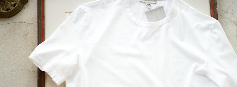 Girelli Bruni (ジレリブルーニ) Crew Neck T-shirt (クルーネック Tシャツ) GIZA 60/2 ギザコットン Tシャツ WHITE (ホワイト) made in italy (イタリア製) 2020秋冬新作  【入荷しました】【フリー分発売開始】のイメージ