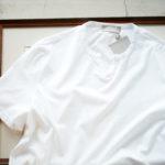 Girelli Bruni (ジレリブルーニ) Key Neck T-shirt (キーネック Tシャツ) GIZA 60/2 ギザコットン キーネックTシャツ WHITE (ホワイト) made in italy (イタリア製) 2020秋冬新作  【入荷しました】【フリー分発売開始】のイメージ