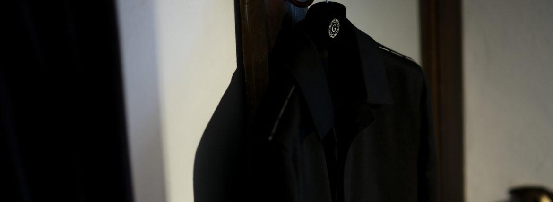LUCA GRASSIA (ルカ グラシア) Belted coat (ベルテッド コート) カシミアフラノ カシミア バルカラー ベルテッド コート BLACK (ブラック)  Made in italy (イタリア製) 2020 秋冬 【Special Model】【Alto e Diritto限定】【ご予約受付中】のイメージ