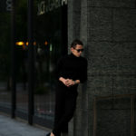 MANRICO CASHMERE (マンリコ カシミア) Super Cashmere Turtle Neck Sweater (スーパーカシミア タートルネック セーター) ハイゲージ アラシャンカシミヤニット セーター BLACK (ブラック) made in italy (イタリア製) 2020 秋冬 【ご予約受付中】愛知 名古屋 altoediritto アルトエデリット manricocashmere マンリコカシミア