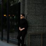MANRICO CASHMERE (マンリコ カシミア) Super Cashmere Turtle Neck Sweater (スーパーカシミア タートルネック セーター) ハイゲージ アラシャンカシミヤニット セーター BLACK (ブラック) made in italy (イタリア製) 2020 秋冬 【ご予約受付中】のイメージ