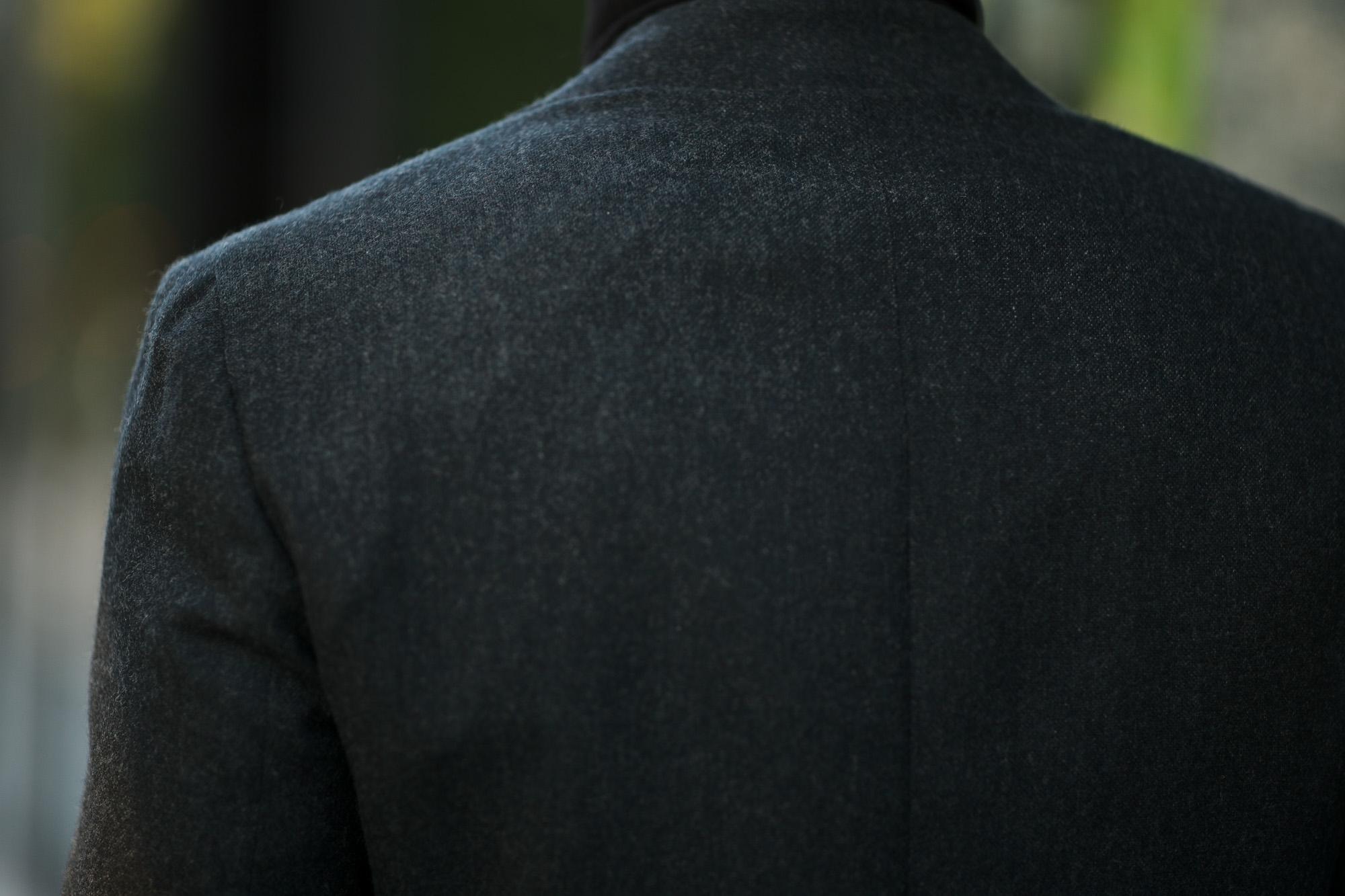 De Petrillo(デ ペトリロ) NAPOLI Posillipo (ナポリ ポジリポ) カシミア モールスキン 段返り3B ジャケット DARK OLIVE(ダークオリーブ・197) Made in italy (イタリア製) 2020 秋冬 【ご予約受付中】 愛知 名古屋 altoediritto アルトエデリット カシミヤジャケット カシミアジャケット