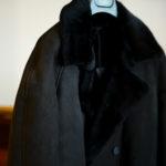 EMMETI(エンメティ) COOPER (クーパー) Merino Mouton (メリノ ムートン) ムートン ベルテッド ダブルコート NERO (ブラック) Made in italy (イタリア製) 2020 秋冬新作 【入荷しました】【フリー分発売開始】のイメージ