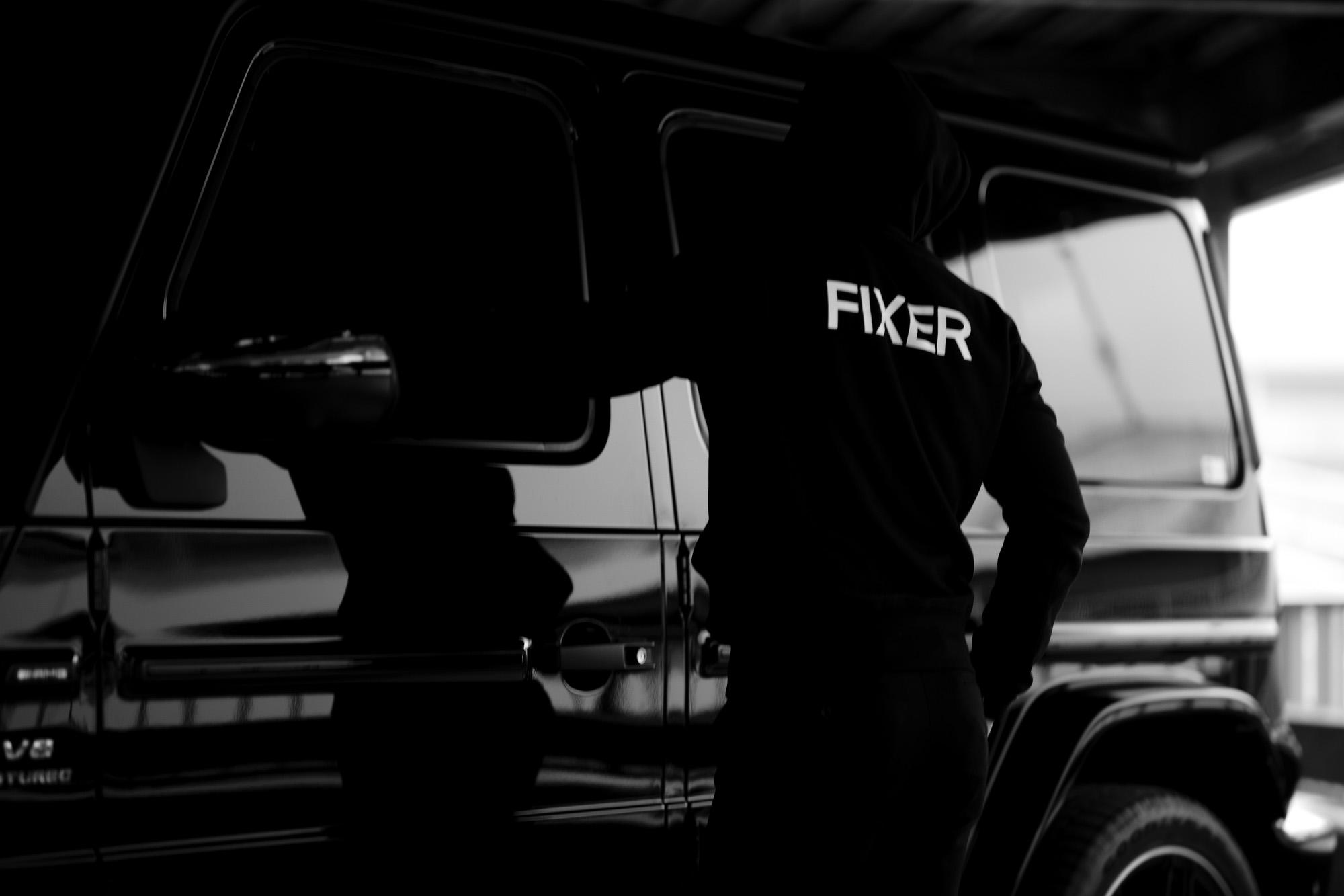 FIXER (フィクサー) FPK-02(エフピーケー02) Sweat Hoodie スウェットフーディー BLACK (ブラック) 2020 愛知 名古屋 altoediritto アルトエデリット パーカー プリントロゴ ロゴプリント 肉厚 裏サーマル