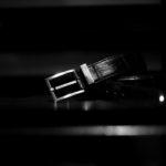 Georges de Patricia (ジョルジュ ド パトリシア) Shadow Crocodile (シャドウ クロコダイル) 925 STERLING SILVER (925 スターリングシルバー) Niloticus Crocodile ニロティカス クロコダイル エキゾチック レザーベルト NOIR (ブラック) 2020 【Special Special Special Model】のイメージ