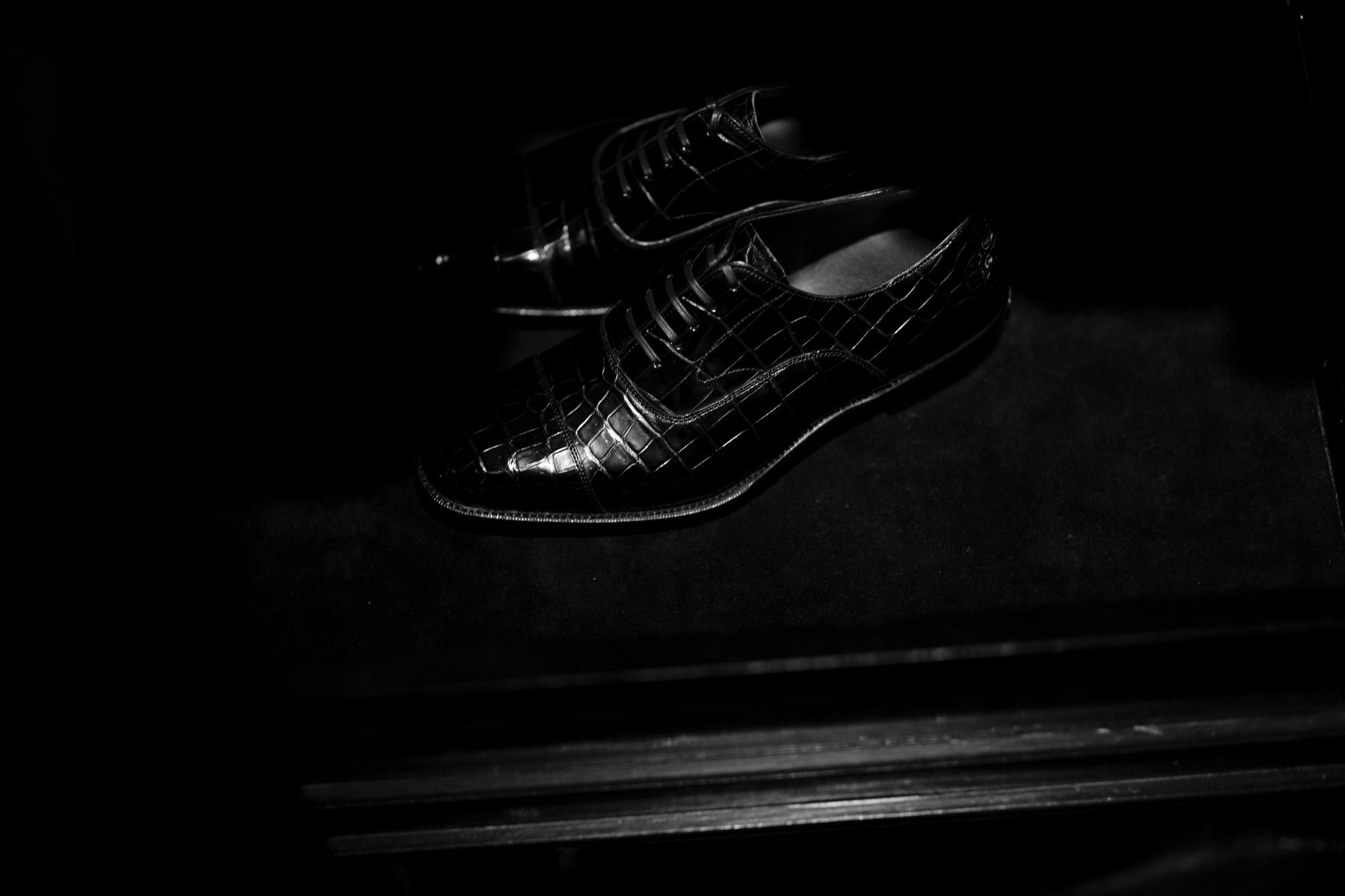 Georges de Patriciaジョルジュドパトリシア Zagato Crocodile ザガートクロコダイル 925 STERLING SILVER 925スターリングシルバー Crocodile クロコダイル エキゾチックレザー ストレートチップシューズ NOIR ブラック 2020 愛知 名古屋 Alto e Diritto アルトエデリット ドレスシューズ