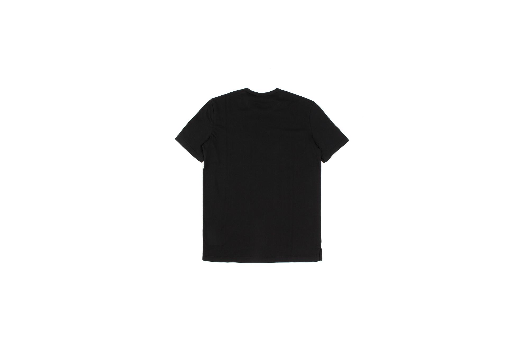 Girelli Bruni (ジレリブルーニ) Crew Neck T-shirt (クルーネック Tシャツ) GIZA 60/2 ギザコットン Tシャツ BLACK (ブラック) made in italy (イタリア製) 2020秋冬新作 愛知 名古屋 Alto e Diritto アルトエデリット