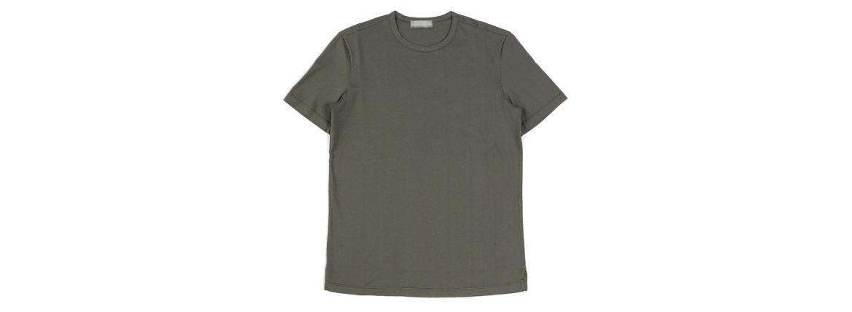Girelli Bruni (ジレリブルーニ) Crew Neck T-shirt (クルーネック Tシャツ) GIZA 60/2 ギザコットン Tシャツ MILITARY (ミリタリー) made in italy (イタリア製) 2020秋冬新作のイメージ
