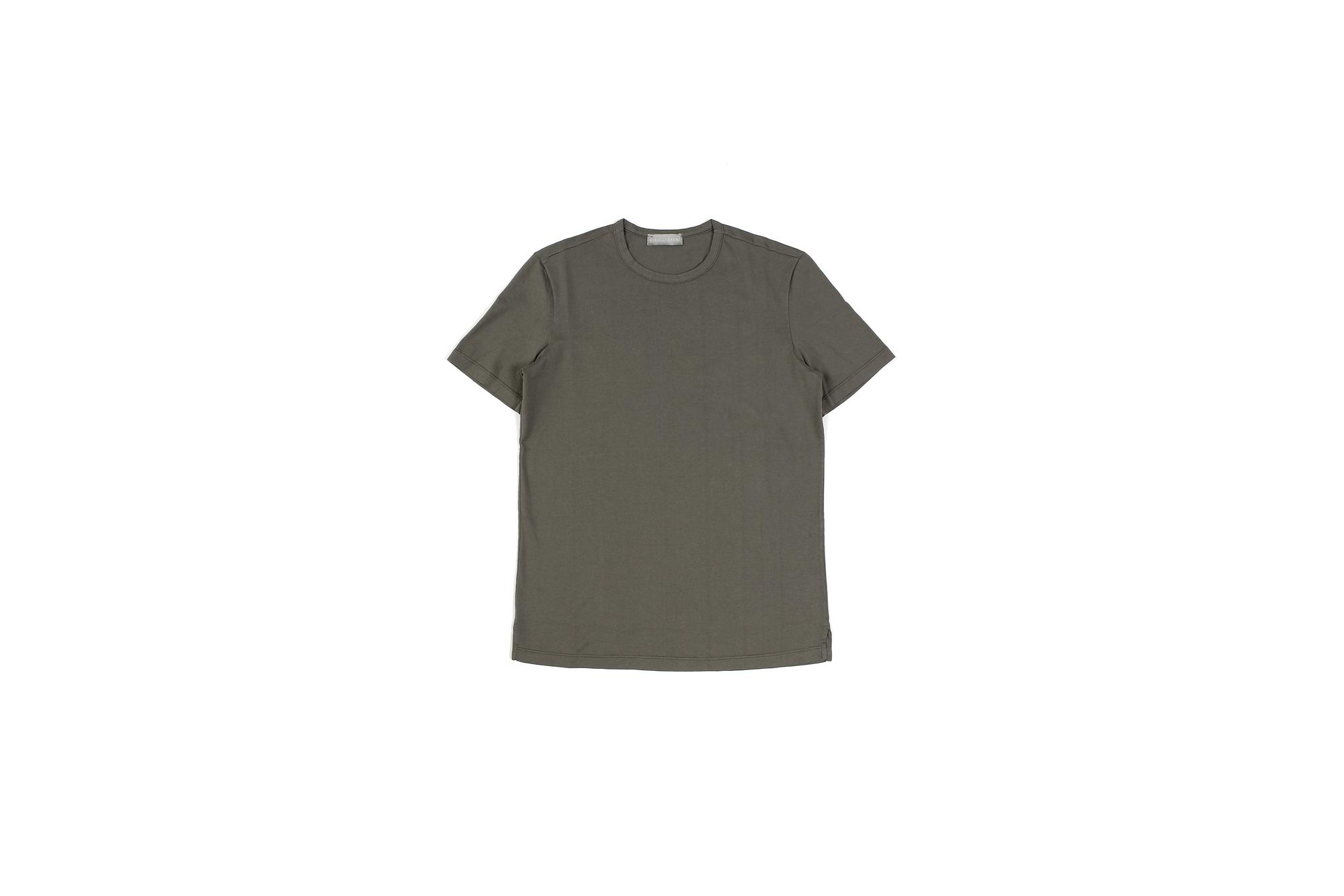 Girelli Bruni (ジレリブルーニ) Crew Neck T-shirt (クルーネック Tシャツ) GIZA 60/2 ギザコットン Tシャツ MILITARY (ミリタリー) made in italy (イタリア製) 2020秋冬新作  【入荷しました】【フリー分発売開始】 girellibruni 愛知 名古屋 altoediritto アルトエデリット alto e diritto