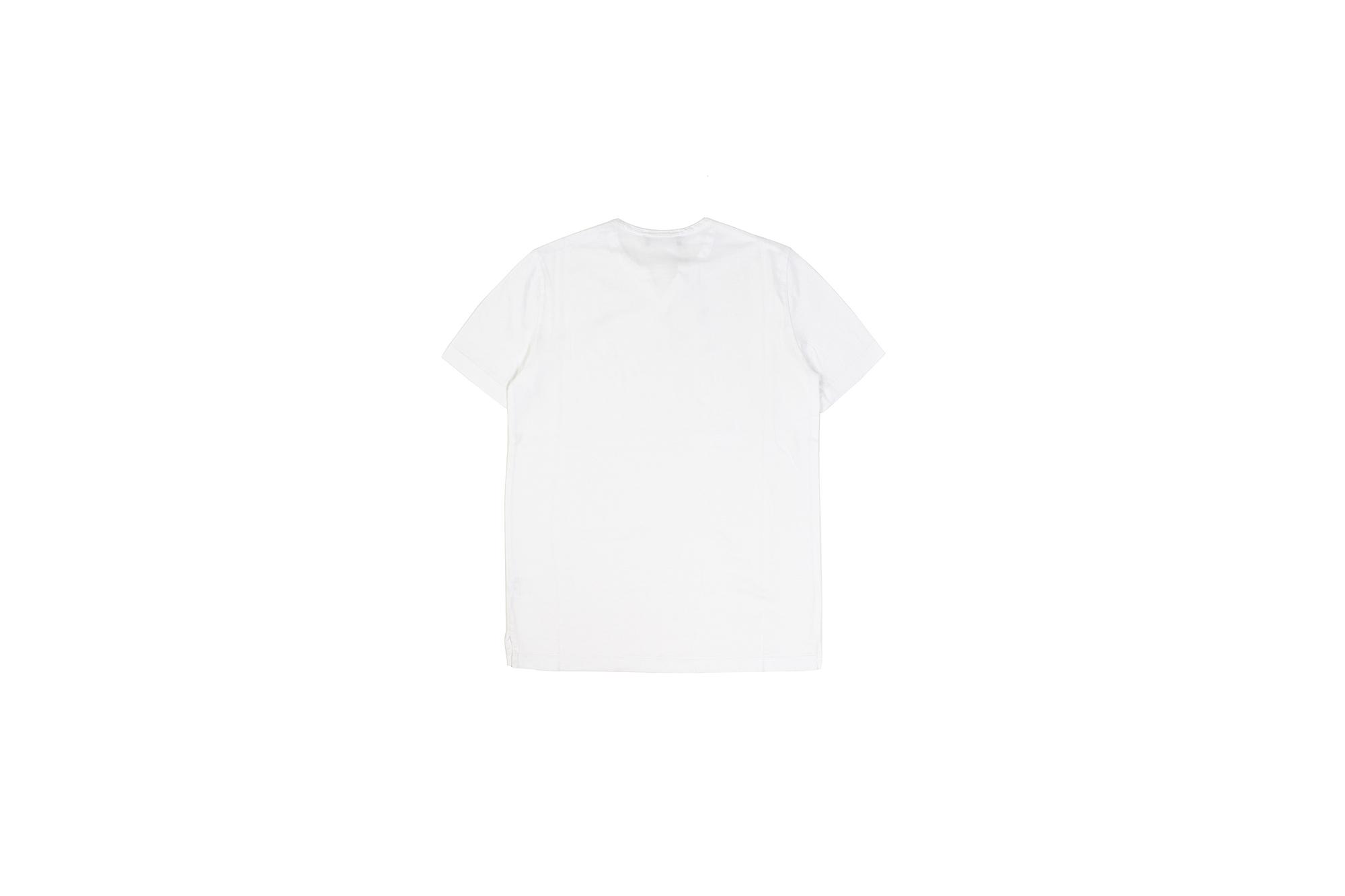 Girelli Bruni (ジレリブルーニ) Key Neck T-shirt (キーネック Tシャツ) GIZA 60/2 ギザコットン キーネックTシャツ WHITE (ホワイト) made in italy (イタリア製) 2020秋冬新作 girellibruni 愛知 名古屋 altoediritto アルトエデリット alto e diritto
