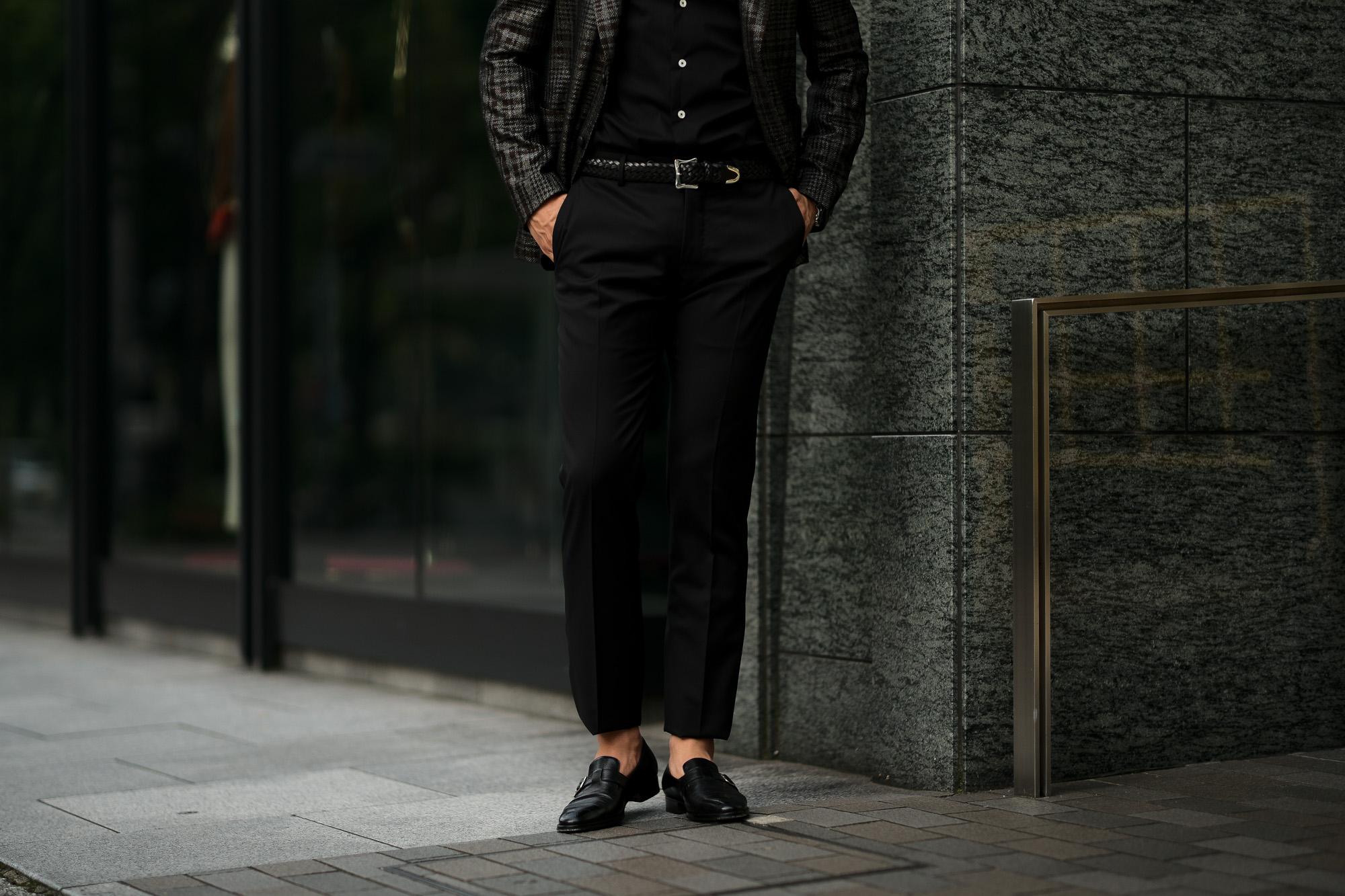 INCOTEX インコテックス N35 SLIM FIT SUPER 100'S WOOLLEN TWILL サージウール スラックス BLACK ブラック・990 2020 秋冬 【ご予約受付中】愛知 名古屋 altoediritto アルトエデリット