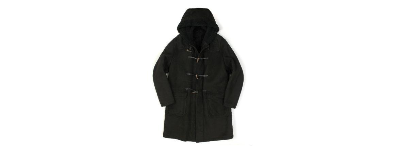 SILENCE(サイレンス) Mouton Duffle Coat D.F.MERINO SPAGNOLO (ミディアムヘアームートン) ムートン ダッフルコート NERO (ブラック) Made in italy (イタリア製) 2020 秋冬新作のイメージ