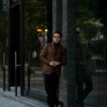 TAGLIATORE (タリアトーレ) CARTON (カールトン) LAMB LEATHER ラムレザー シングル テーラード ジャケット CUOIO (ブラウン) Made in italy (イタリア製) 2020 秋冬新作 【入荷しました】【フリー分発売開始】のイメージ