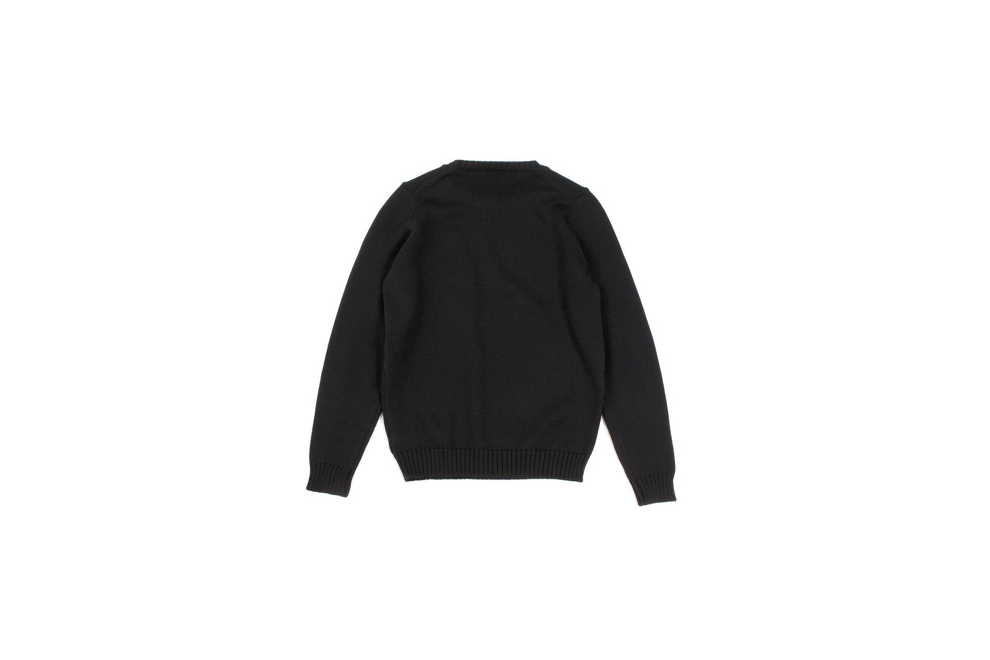 ZANONE(ザノーネ) Crew Neck Sweater (クルーネック セーター) VIRGIN WOOL 100% ミドルゲージ ウールニット セーター BLACK (ブラック・Z0015) made in italy (イタリア製) 2020 秋冬 【ご予約受付中】愛知 名古屋 altoediritto アルトエデリット タートル