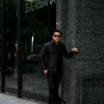 ALTACRUNA (アルタクルーナ) Reversible Leather Padded Jacket (リバーシブル レザー パデッド ジャケット) Lamb Leather (ラムレザー) レザー × ナイロン リバーシブル ジャケット NERO (ブラック・0010) Made in italy (イタリア製) 2020 秋冬新作のイメージ