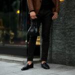 cuervo bopoha(クエルボ ヴァローナ) Satisfaction Leather Collection (サティスファクション レザー コレクション) FLOYD(フロイド) Crocodile Leather(クロコダイルレザー) レザードローストリングバック 巾着 BLACK (ブラック) Made in Japan(日本製) 2020秋冬【Special Model】のイメージ