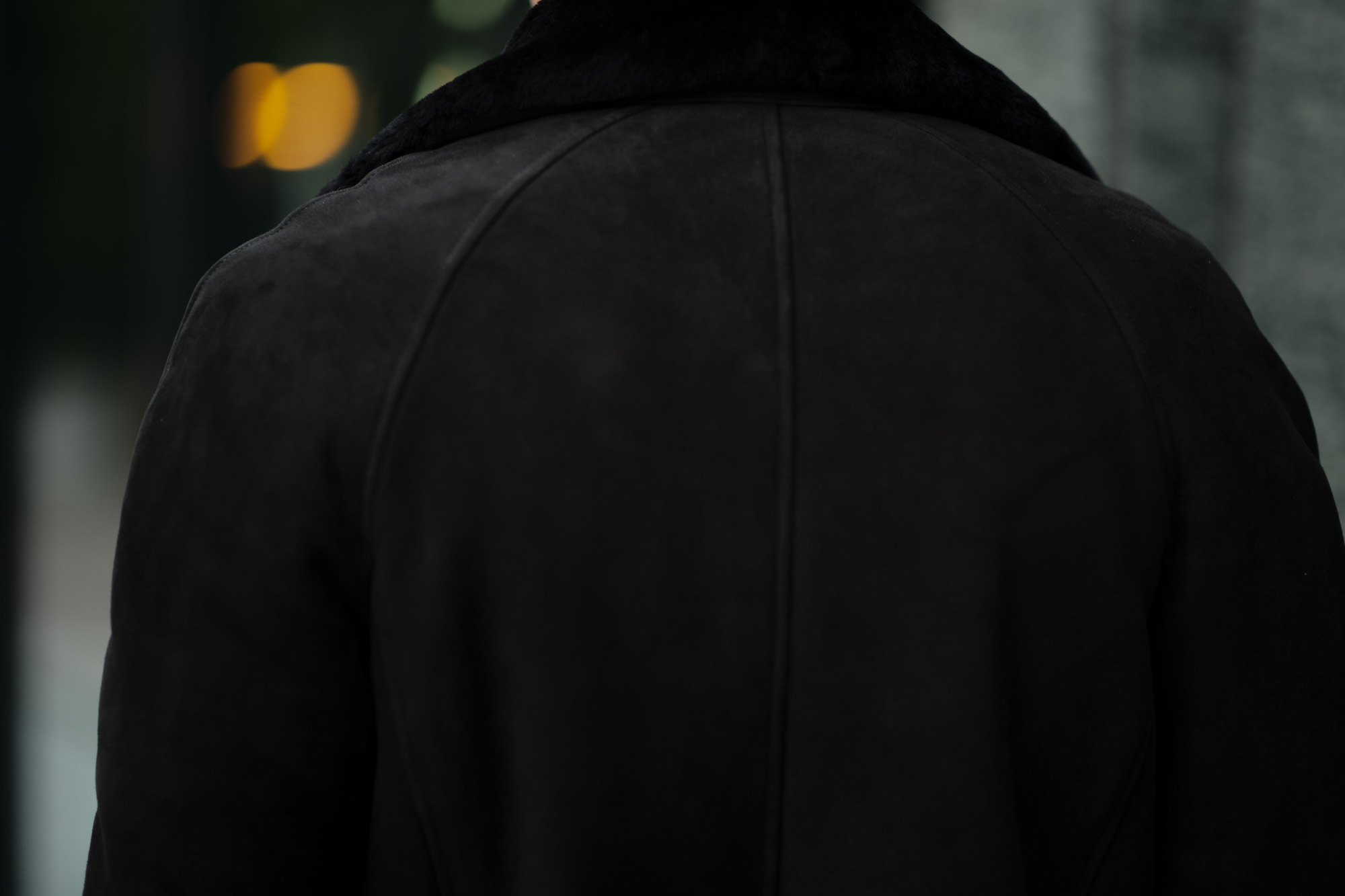 EMMETIエンメティ COOPER クーパー Merino Mouton メリノ ムートン ムートン ベルテッド ダブルコート NERO ブラック イタリア製 2020 秋冬新作 入荷しました フリー分発売開始 愛知 名古屋 Alto e Diritto アルトエデリット