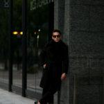 EMMETI(エンメティ) COOPER (クーパー) Merino Mouton (メリノ ムートン) ムートン ベルテッド ダブルコート NERO (ブラック) Made in italy (イタリア製) 2020 秋冬新作のイメージ